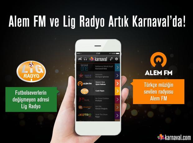 Alem FM ve Lig Radyo Artık Karnaval'da