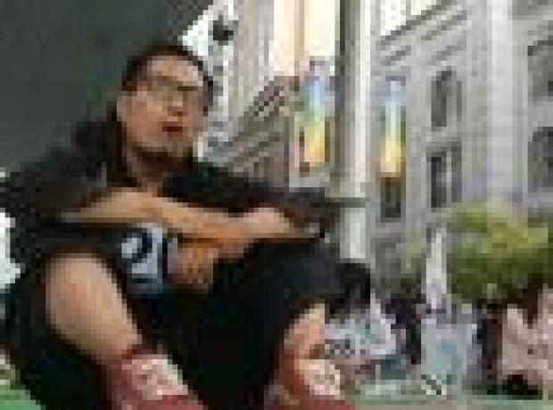 Pekin kalabalığında 'dalıp gitme' yarışması